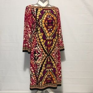 ICE Multi Color Light Weight Dress Womens 8